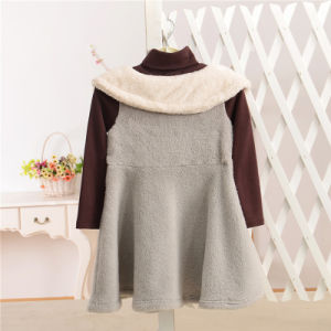Coral Fleece & Cotton Winter Dress for Kids Girls pictures & photos