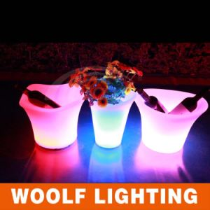 Rechargeable LED Ice Bucket, Light Ice Bucket Nightclub Beer LED Lighted Ice Bucket pictures & photos