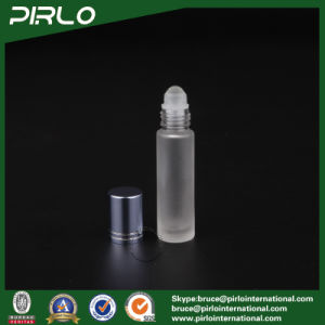 10ml Frosted Glass Roll on Bottle with Glass Roller and Blue Cap pictures & photos