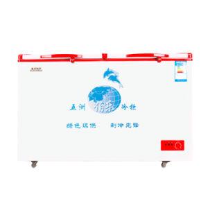 Single Temperature Top Open Double Door Chest Freezer for Sale pictures & photos