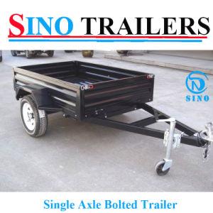 Powder Coating Single Axle Small Box Truck Trailer