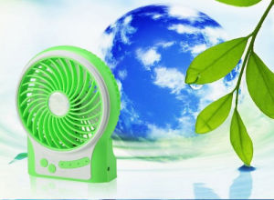 Portable Charging USB mini fan with 3 level wind speeding-Green pictures & photos