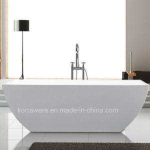 Acrylic Simple Freestanding Bathtub (K1505) pictures & photos