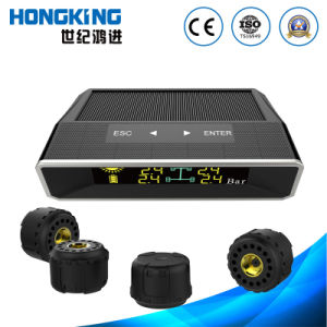 Color Display Solar Energy TPMS with 4 External Tyre Sensors