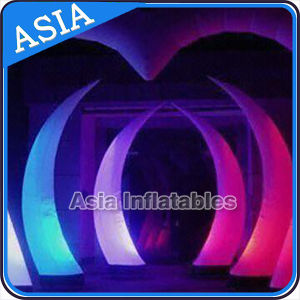 LED Event Decoration Inflatable Cones, Inflatable Lighting Tower with Printings pictures & photos