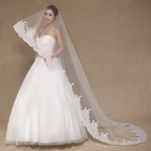 Aoliweiya Tulle One Layer Lace 3m Wedding Veil for Bride pictures & photos