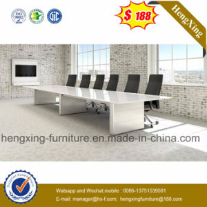 Modern Big Size Walnut Melamine Rectangle Office Meeting Conference Table (HX-5N113) pictures & photos