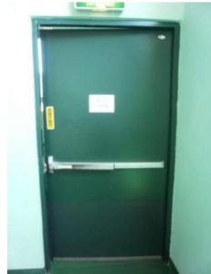 UL Fire Door with Panic Lock and Vision Panel/Double Leaf or Single Leaf Fireproof 2hr pictures & photos
