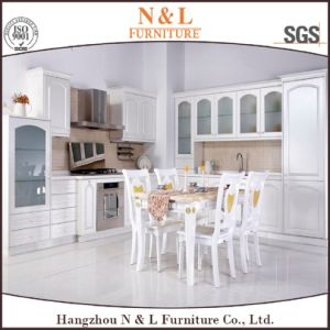 Modern Style Wooden Home Furniture PVC Wood Kitchen Cabinet pictures & photos