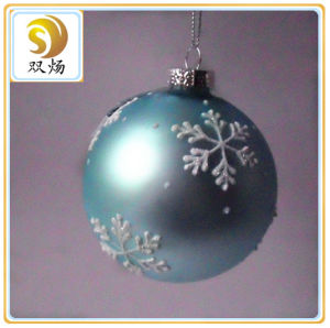 2016 Red Color Hanging Christmas Glass Ornament