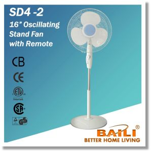 "16"" Oscillating Stand Fan with Remote pictures & photos"