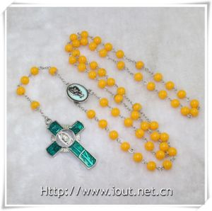 Virgin with Child Catholic Resin Rosary, Resin Round Beads Necklace (IO-cr374) pictures & photos
