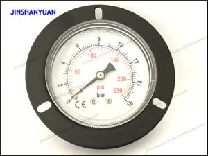 Gpg-013 Black Steel Ordinary Pressure Gauge with Front Flange /Back Mount Air Manometer pictures & photos