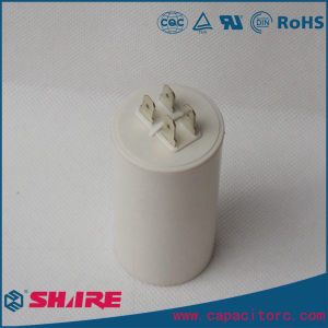 Cbb60 AC Motor Capacitor with Cable 450V Water Pump Capacitor pictures & photos