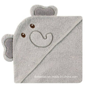 Baby Cotton Bath Blanket Hooded Towel pictures & photos
