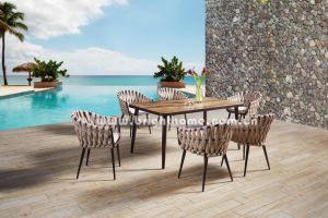 Wicker Outdoor Dining Set Patio Furniture pictures & photos