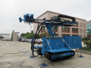 Rotary System Drilling Rig Construction, Hydraulic Crawler Drilling Machine pictures & photos