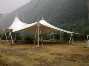Beautiful Tensile Structural Membrane for Garden Plaza pictures & photos