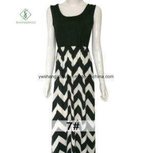 Hot Sell Ladies Beach Boho Maxi Long Dress with Strip Printed pictures & photos
