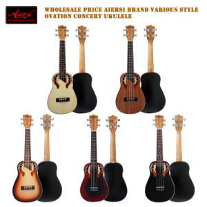 China Aiersi Sunburst Colour Concert Ovation Ukulele Wholesale pictures & photos