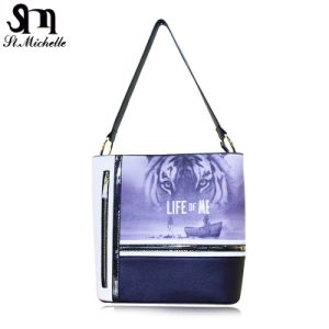 Discount Fashion PU Handbags with Animal Pattern pictures & photos