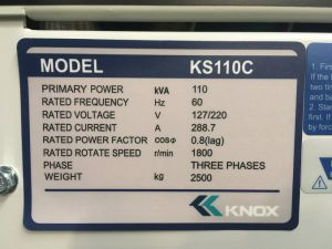 Kipor Knox Cummins Diesel Generator Stamford Alternator Dse Control Ks110c-S pictures & photos
