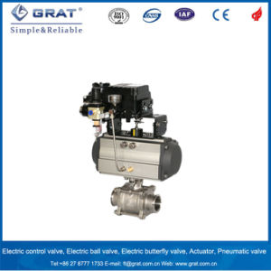 Dn50 Ss316L Single Action Pneumatic Regulating Valve pictures & photos