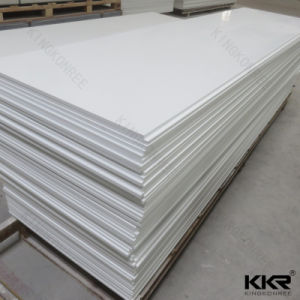 Artificial Stone 12mm Glacier White Solid Surface for Coutertops (170828) pictures & photos