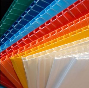 Plastic Corrugated Board PP Hollow Sheet for Advertising pictures & photos