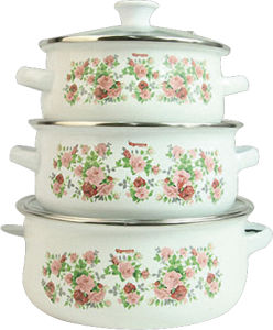 High Quality Fashion Enamel Heavy Cooking Pot pictures & photos