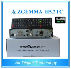 Multistream HDTV Box Zgemma H5.2tc Dual Core Linux OS DVB-S2+2*DVB-T2/C Dual Tuners with Hevc/H. 265 Decoding pictures & photos