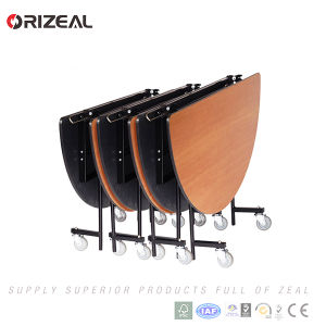 Orizeal Folding Dining Table with Four Casters pictures & photos