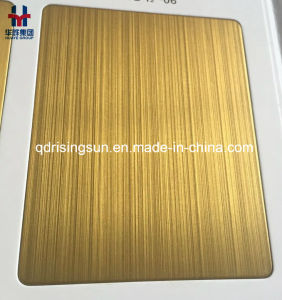 High Quality Colored Stainless Steel Decorative Sheets for Project Matt Anti-Fingerprint pictures & photos