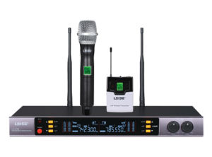 Ls-993 High Quality Karaoke Microphone Dual Channels UHF Wireless Microphone pictures & photos