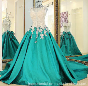 Green Party Prom Gown Beads Lace Evening Dress Ld1920 pictures & photos