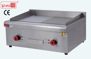 Half Griddle and Half Grill Electric Griddle for Catering Equipment pictures & photos