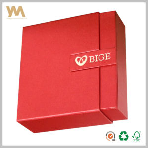 Light Red Drawer Gift Packaging Box pictures & photos
