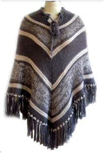 Knitted Cape Pullover Sweater of 100% Acrylic Mohair Yarn pictures & photos