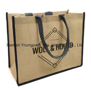 Promotional Custom Printed High Quality Large Eco-Friendly Reusable Jute Carry Bags pictures & photos