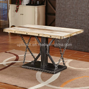 Rectangle Wooden Desktop Bistro Restaurant Table with Metal Leg (SP-RT542) pictures & photos