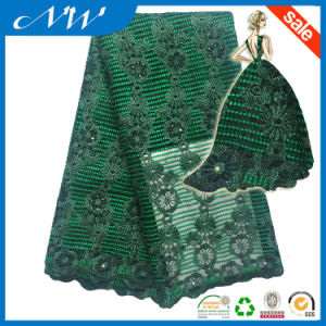 Embroidery Beaded Wedding Lace Fabric for Bridal pictures & photos
