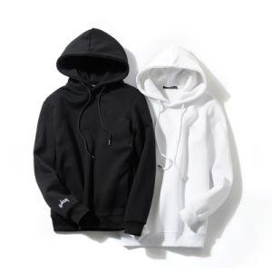 Custom Fashion Plain Black White Men Cotton Hoodie Wholesale pictures & photos