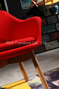 Modern Leisure Chair with Wood Legs pictures & photos