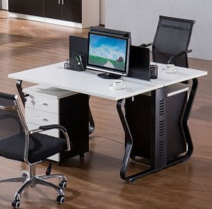 2 Seats Straight Desk Workstation Cluster Staff Office Partition (HX-NCD234) pictures & photos