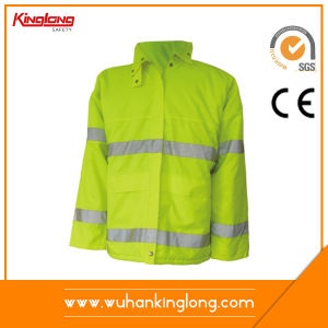 Mens Winter High Visibility Reflective Winter Workwear Jacket