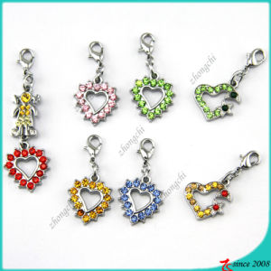 Stone Heart Pendant Charms Jewelry (MPE)