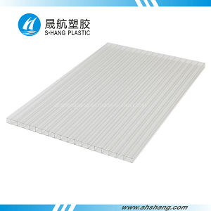 Twin-Wall Crystal Clear Polycarbonate (PC) Hollow Sheet pictures & photos