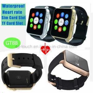 Waterproof IP57 Smart Watch Phone with Heart Rate Monitor GT88 pictures & photos