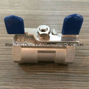 "CF8/CF8m/CF3/CF3m Butterfly Handle 1"" 1PC Ball Valve pictures & photos"