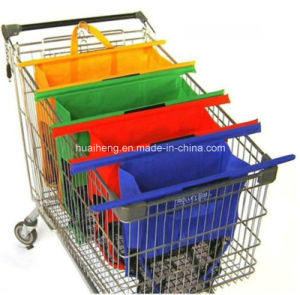 Eco Recycling Non Woven Folding Foldable Supermarket Shopping Trolley Bag pictures & photos